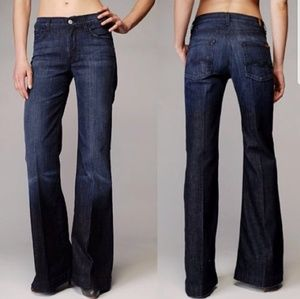 7 for all mankind ginger flare wide leg size 27